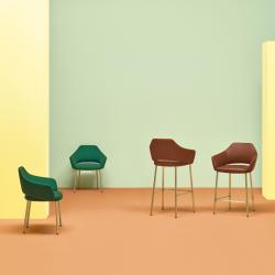 VIC METAL 649 - Bar Stool - Designer Furniture - Silvera Uk