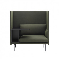 OUTLINE HIGHBACK WORK - Easy chair - Showrooms -  Silvera Uk