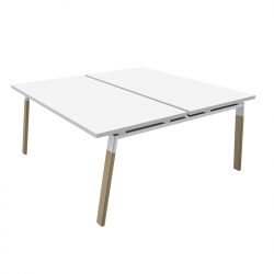 ATREO WOOD double - Office Desk - Silvera Contract -  Silvera Uk
