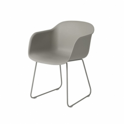 FIBER ARMCHAIR sled base - Dining Armchair -  -  Silvera Uk