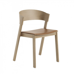 COVER SIDE CHAIR leather seat - Dining Chair - Designer Furniture -  Silvera Uk