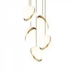 MINI CRESCENT CHANDELIER 5 PIECES - Pendant Light - Designer Lighting -  Silvera Uk