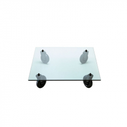 TAVOLO CON RUOTE Square - Coffee Table - Designer Furniture -  Silvera Uk
