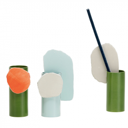 DÉCOUPAGE Feuille Vase - Vase - Accessories - Silvera Uk