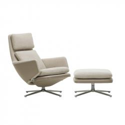 GRAND RELAX & OTTOMAN Fabric - Easy chair - Designer Furniture -  Silvera Uk