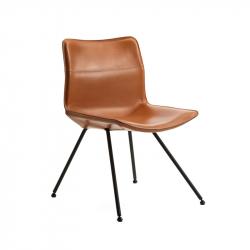 DAN Leather - Dining Chair - Designer Furniture -  Silvera Uk
