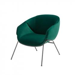 ANITA Metal legs - Easy chair - Designer Furniture -  Silvera Uk