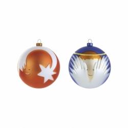 Set 2 boules de Noël Palle Presepe : ange et étoile filante - Accueil -  -  Silvera Uk