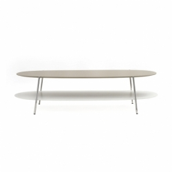 SHIKA L 140 chrome base - Coffee Table -  -  Silvera Uk