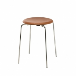 DOT leather seat - Stool - Designer Furniture -  Silvera Uk